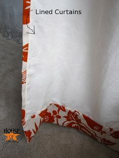 How to make professional lined curtain panels. Great directions and no worrying if the lining will lay flat.