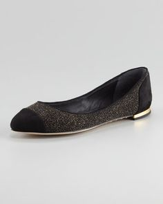 Pointed Cap-Toe Flat by B Brian Atwood at Neiman Marcus.