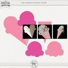 Ice Cream Cone Card