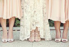 Tea length Bridesmaid dresses