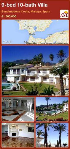 9-bed 10-bath Villa in Benalmadena Costa, Malaga, Spain ►€1,500,000 #PropertyForSaleInSpain