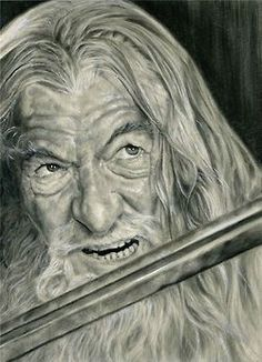 A Gandalf drawing in pencil and white ink, I hope...