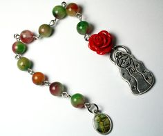 Pocket Rosary with Our Lady of Guadalupe Virgencita by Exgalabur, $16.00