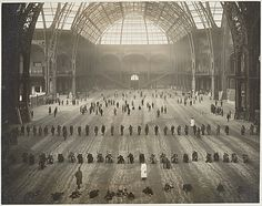 """The Metropolitan Museum of Art - """"The Great Nave: Wounded Soldiers Performing Arms Drill at the End of Their Medical Treatment"""" 1916 During World War I, wounded soldiers who had been sent to Paris to recover were drilled in the cavernous Grand Palais to prepare them for a return to the front."""