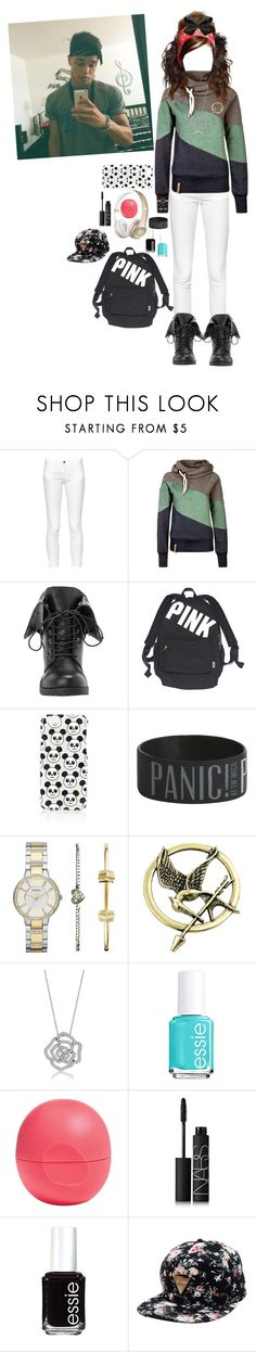 """Hangin out with Dana"" by nerdliciousnerds ❤ liked on Polyvore featuring French Connection, Victoria's Secret, Topshop, FOSSIL, BERRICLE, Essie, Eos, NARS Cosmetics, women's clothing and women's fashion"