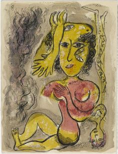 Illustration de la série : Cirque. Chagall, 1966.