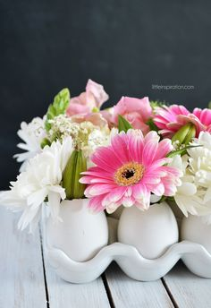 DIY Eggshell Flower Centerpiece