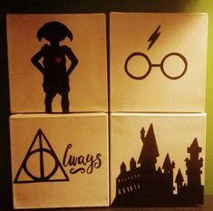 Harry Potter Silhouette Minimalist Canvas Paintings