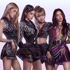 Stan these queens of sass and strength Blackpink Jisoo, Blackpink Jennie, Kpop Girl Groups, Kpop Girls, Memes Do Blackpink, Fan Art, Chica Dark, Mode Kpop, Lisa Blackpink Wallpaper