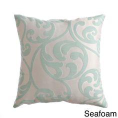 Softline Decorative 20-inch Throw Pillow (Seafoam), Green, Size 20 x 20 (Cotton, Jacquard)