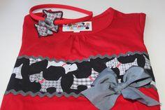 Camiseta y diadema de perritos