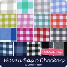 Cotton + Steel Woven Basic Checkers Half Yard Bundle<br/>Cotton + Steel Fabrics for Cotton + Steel Fabrics