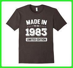 Mens 34th Birthday Gift T Shirt - Made In 1983 T-Shirt 1983 Shirt Medium Asphalt - Birthday shirts (*Amazon Partner-Link)