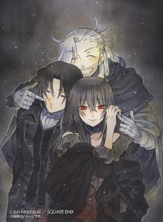 Pandora Hearts: Oswald, Revis, and Lacie