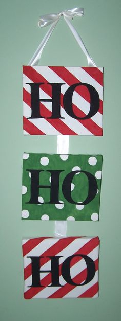 The Beautiful Budget:  Ho Ho Ho DIY Christmas Canvas