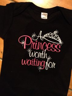 Baby black  onesie or tshirt with baby saying A by grammeshouse, $20.00