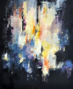 "City Lights original abstract painting - Modern Cityscape 20x24"" on Etsy, $245.00"