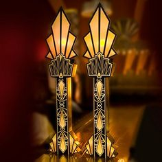 Diamond Dazzle Columns Kit, 8 Feet 8 Inches x 26 Inches x 6 Inches Speakeasy Party, Gatsby Themed Party, Great Gatsby Theme, Theme Parties, O Grande Gatsby, Art Nouveau, Roaring 20s Party, Roaring Twenties, Art Deco Wedding