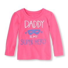 The Childrens Place - Let her show off her love for dad with this cool graphic tee!