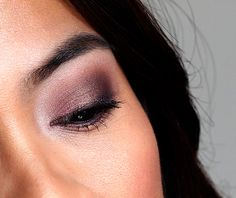 Laura Mercier Artist's Palette 2013 look. Brow bone and inner corner: Sparkling Dew Crease: Fresco and Truffle Mixed Together, then and Bamboo applied wet (upper crease) Lids: African Violet applied wet Outer V: Violet Ink and Espresso