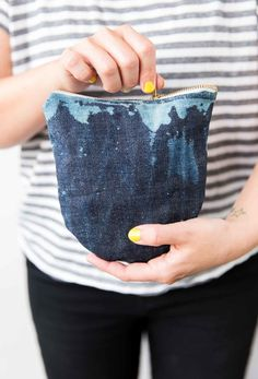 Jean Queen: How to Transform Old Jeans Into a Denim Clutch in About an Hour - Paper and Stitch