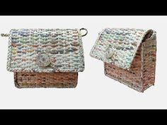 How To Make A Ladies Purse.Bag with Newspaper and Fevicol (Unique How To Make A Ladies PurseBag with Newspaper, Newspaper Ladies Purse Hello Friends, Make a beautiful ladies purse at home using newspaper. Whether you use it yourself or gift it to Diy Newspaper Bags, Recycle Newspaper, How To Make A Paper Bag, How To Make Purses, Paper Basket Weaving, Braided Rag Rugs, Paper Purse, Diy Purse, Paper Craft Supplies