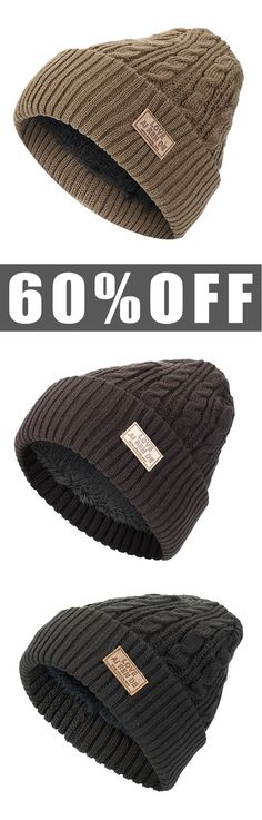 60%OFF&Free shipping. Men's Winter Hat, Plus Plush Beanies Knitted Hats, Casual Outdoor Sports Ski Warm Hats. Color: Navy, Khaki, Black, Coffee, Grey. Shop now~