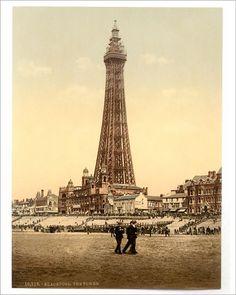 Paris Torre Eiffel, Tour Eiffel, Blackpool Beach, Blackpool England, British Seaside, British Isles, Kingdom Of Great Britain, Seaside Resort, Old Photos
