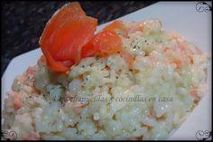 Una chapucillas y cocinillas en casa: Risotto de salmón ahumado