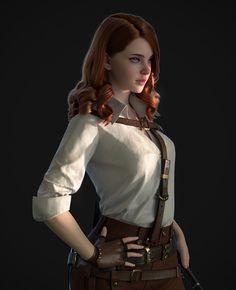 Female Character Design, Character Design Inspiration, Character Concept, Character Art, Concept Art, Fantasy Women, Fantasy Girl, 3d Foto, Chica Fantasy