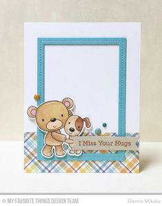 Friends Furever Stamp Set and Die-namics, Single Stitch Line Rectangle Frames Die-namics, Stitched Sentiment Strips Die-namics - Donna Mikasa  #mftstamps