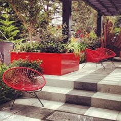 Adezz Aluminium Garden Planter. Red, Bespoke option. Aluminium Florida Low Cube