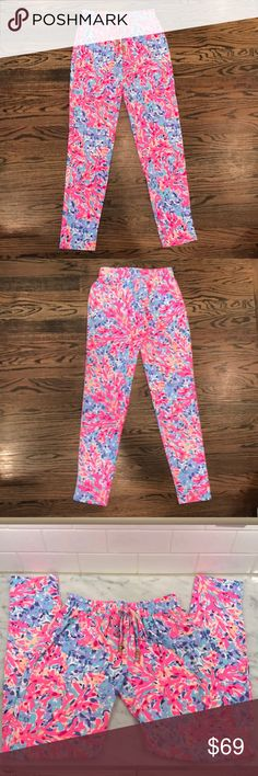 Womens Lilly Pulitzer Lola Pant NWT Lilly Pulitzer Lola Pant Coco Coral Crab Lilly Pulitzer Pants Track Pants & Joggers