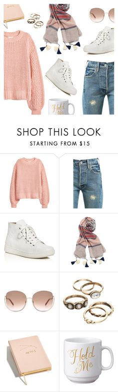 """""""Outfit of the Day"""" by dressedbyrose ❤ liked on Polyvore featuring H&M, Levi's, Eileen Fisher, Stella & Dot, Chloé, Celebrate Shop, Easy, Tiger, ootd and polyvoreeditorial"""