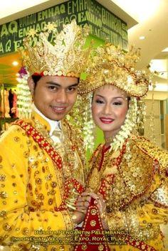 Traditional wedding costumes from Palembang ,South Sumatra - Indonesia