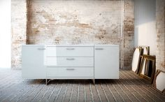 White lacquer sideboard from 212 Modern Furniture