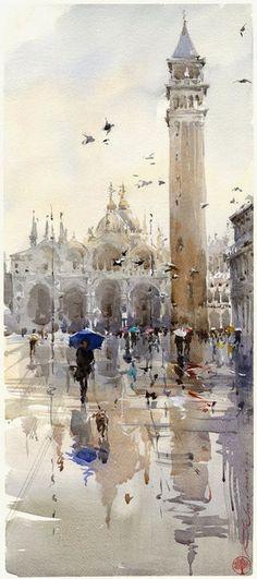 Saint Mark Square, Venice, Italy (watercolor)