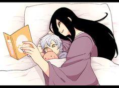 【大蛇丸とミツキ君】 暖かいし安心してすぐ寝ちゃうから、いつもお話の続きが気になるミツキくん(しかし寝てしまう)