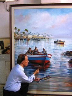 Libyan painter...