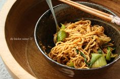 tossed and ready to eat, spicy dan dan mein recipe on blog  http://thekitchenrunner01.blogspot.ca/