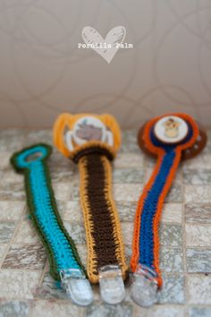 Crochet pacifier holder - Lilla A & Jag @Kami Bremyer Esposito Ruano @Sharon Macdonald Macdonald Yoshida-uchizono