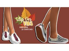 The sims 4 kids slip on vans by hollowsprings 彡 sims 4 cc 彡 Sims 4 Cc Packs, Sims 4 Mm Cc, Sims 4 Cc Skin, Sims 4 Toddler Clothes, Sims 4 Cc Kids Clothing, Toddler Cc Sims 4, Sims Mods, Vans For Kids, The Sims 4 Bebes