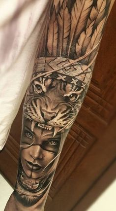 Tattoo Leg Male Sleeve Ideen – – Tattoo L… – tattoos for women half sleeve Tattoo L, Forarm Tattoos, Tiger Tattoo, Leg Tattoos, Body Art Tattoos, Inca Tattoo, Tattoo Hand, Leg Sleeve Tattoo, Full Sleeve Tattoos