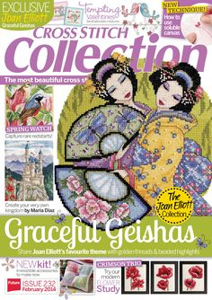 Cross Stitch Collection - February 2014 : Spring watch and Graceful geishas and Crimson trio try our modern flower study and Create your very own kingdom by Maria Diaz and more. Cross Stitching, Cross Stitch Embroidery, Embroidery Patterns, Cross Stitch Tree, Cross Stitch Books, Magazine Cross, Funny Cross Stitch Patterns, Cross Stitch Magazines, Cross Stitch Collection