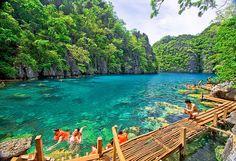 Blue Lagoon, Luzon, The Philippines.