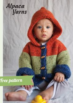 Baby Knitting Patterns Free for 2020 New Baby Knitting Patterns Free for To make things easy we have compiled all the latest free knitting patterns for babies and toddlers in the one post, find everything you need easily! Free Childrens Knitting Patterns, Baby Cardigan Knitting Pattern Free, Baby Sweater Patterns, Knit Baby Sweaters, Knitted Baby Clothes, Baby Clothes Patterns, Hoodie Pattern, Knitting For Kids, Baby Patterns