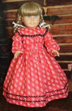 American Girl Civil War Dress in Red with by RuthielovestoSew