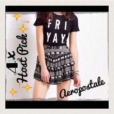 ④ⓧHP NWT Aeropostale  skater skirt NWT Elephants trending print, skater skirt, so cute  Aeropostale Skirts Circle & Skater