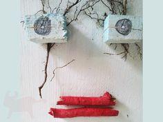 Deko-Objekte - Hausgeist *7 - ein Designerstück von superbunt bei DaWanda Etsy, Detail, Atelier, Christmas Jewelry, Objects, Ghosts, Sticker, Rustic, Deco