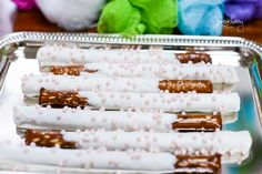 Pretzels at a Spa Party #spa #partyfood